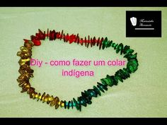 Faça você mesma um colar indígena -DIY Mettez-vous un collier indien - YouTube
