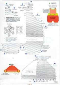 *Diagram (written pattern not in English): Crochet and more by Simo: Jumper