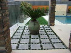 paving ideas for utility side of house Patio Pictures, Garden Pictures, Garden Photos, Beach Gardens, Small Gardens, Outdoor Gardens, Courtyard Gardens, Modern Gardens, Landscape Design