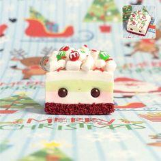 #kawaii #charms #polymer #clay #christmas #cake