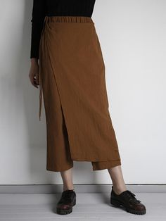 d1bfd7f01a72f Women Elastic Waist Loose Wide Leg Pants with Zipper