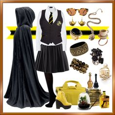 Hufflepuff, created by rowangingerraven on Polyvore