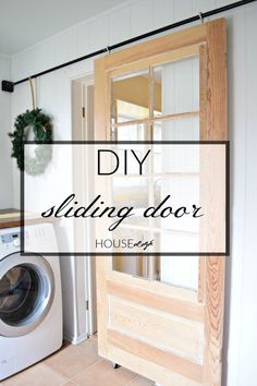 Do you want to hang a DIY Sliding Door? Learn how to hang a sliding door EASILY and on the CHEAP using plumbing conduit. A simple sliding door tutorial. Interior Flat, Interior Barn Doors, Interior Design, Interior Office, Modern Interior, The Doors, Entry Doors, Patio Doors, Front Entry