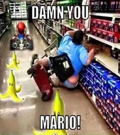 When you're a gamer at heart no matter where you are... | #Mario #Funny #VideoGame #Memes