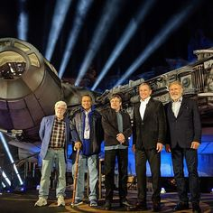 Incoming transmission! George Lucas, @therealbillydee, @hamillhimself, @Disney chairman and CEO Bob Iger, and Harrison Ford united for the #StarWars: #GalaxysEdge dedication ceremony at @Disneyland Resort.  ⠀  (Reservations and valid theme park admission required to visit Star Wars: Galaxy's Edge between May 31 and June 23, 2019. Beginning June 24, No Reservations Required. Subject to Capacity.)    #Regram via @ByGNA0vh_ow Mark Hamill, Harrison Ford, Starwars, Billy Dee Williams, Star Wars Love, George Lucas, Disneyland Resort, Bob, The Unit