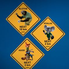 Zootopia Road Signs