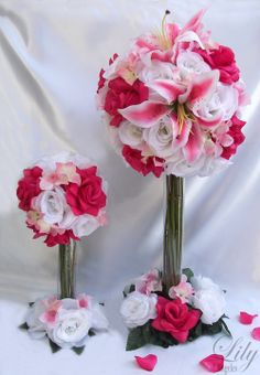 Topiary Beautiful Flowers | Complete Bridal Set (Bouquet, Corsage, Boutonniere) and all pieces ...