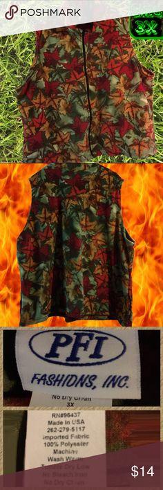 Fleece vest with zipper & side pockets- NWOT 🏷 Fleece vest with zipper & side pockets- NWOT 🏷 PFI Fashions Inc. Jackets & Coats Vests