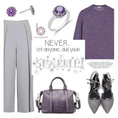 """""""Every day sparkle!"""" by blossom-jewels ❤ liked on Polyvore featuring Topshop, Miu Miu and Wall Pops!"""