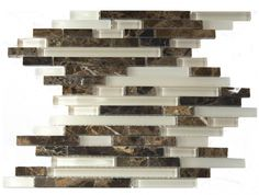 this glass and granite backsplash would coordinate nicely with island granite and black concrete countertops