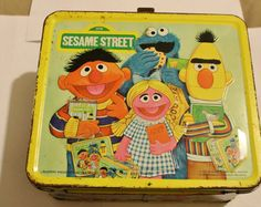 Sesame Street Lunch Box - Perfect for storing tiny toys and displaying on a shelf in a kids room.