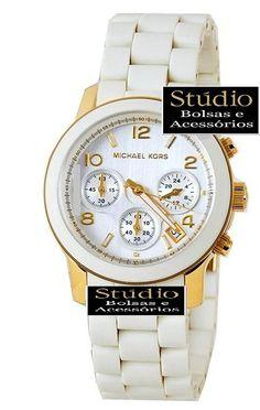Relógio Michael kors Emborrachado Branco - http://www.studiobolsaseacessorios.com.br/index.asp?idproduto=292380