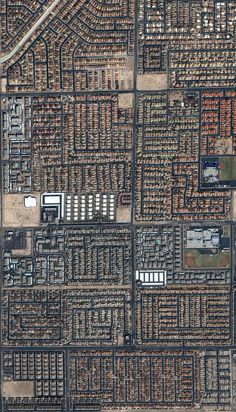 Houses and streets in bustling Las Vegas, Nevada are seen in this image from the commercial IKONOS satellite taken in September of 2004. (IKONOS image ©2004 GeoEye) #
