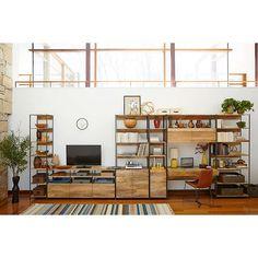 Buywest elm Industrial Modular 84cm Open and Closed Storage Bookshelf Online at johnlewis.com