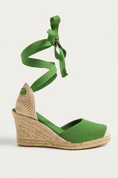 fdd595ba1913 Slide View: 1: UO Erin Espadrille Wedge Sandals Lace Up Sandals, Summer  Sandals