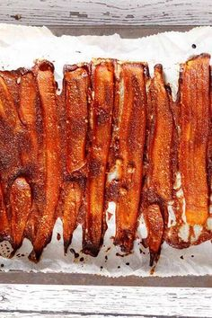 Carrot Bacon Is the Vegan Side Dish of Your Dreams via PureWow Carrot Bacon Recipe, Carrot Recipes, Whole Food Recipes, Cooking Recipes, Cooking Bacon, Healthy Vegan Snacks, Delicious Vegan Recipes, Vegan Food, Paleo