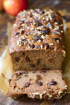 Hearty yet soft, sweet, and perfectly spiced Cinnamon Raisin Paleo Breakfast Bread that's great alone or toasted with your favorite butter or nut butter.