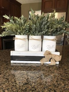Black and white striped Mason jar centerpiece with greenery – The Rustic Peach Kitchen Centerpiece, Mason Jar Centerpieces, Kitchen Decor, Wedding Centerpieces, Kitchen Ideas, Rustic Country Kitchens, Country Farmhouse Decor, Farmhouse Door, Farmhouse Table
