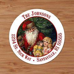Old Fashioned Santa  CUSTOM Christmas Address Labels by PoshGirlBoutique