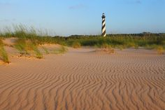 """Visitors can climb the 257 steps to the top of """"America's Lighthouse"""" at Cape Hatteras National Seashore from Good Friday to Columbus Day. #North #Carolina"""