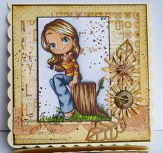 Featuring Some Odd Girl image :-) by Lis Murphy using Woodsy Mae #digitalstamp