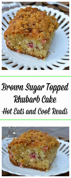Sugar Topped Rhubarb Cake Recipe This cake is absolutely perfect with the tart rhubarb and crunchy brown sugar topping! Brown Sugar Topped Rhubarb Cake Recipe from Hot Eats and Cool ReadsReads Reads may refer to: Rhubarb Desserts, Rhubarb Cake, Rhubarb Recipes, Just Desserts, Delicious Desserts, Rhubarb Loaf, Rhubarb Pudding Cake, Rhubarb Scones, Food Cakes