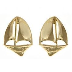 Gold Sailboat Earrings | Anchored Style