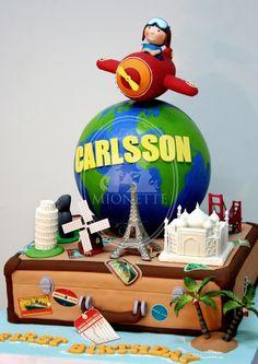 Around the world #travel #cake #birthdaycake