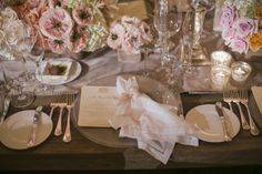 Pale Pink White and Gold Reception Table Setting | photography by http://www.samuellippke.com/studio/index.html