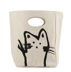 Organic Lunch Bag, Hey Cat