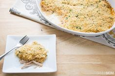 If you love chicken cordon bleu, you're going to love our easy and light casserole version. Rich and creamy with a little bit of crunch!