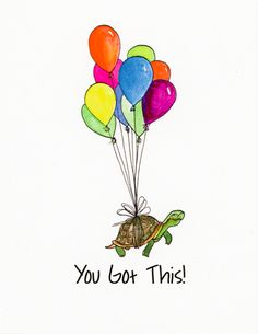 Try Again Turtle Encouraging CardsIts Your Birthday