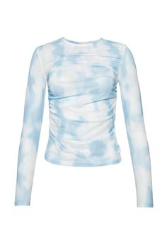 Mesh top blue and white cloudy Blue Fashion, Fashion 2020, Girl Fashion, Womens Fashion, Crop Top Outfits, Summer Outfits, Cute Outfits, Teenager Outfits, Types Of Fashion Styles