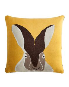 Hare Chamois Yellow Cushion | Joules