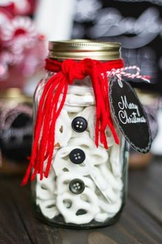 Décorations de Noël à faire soi-même, carte de vœux, boutons