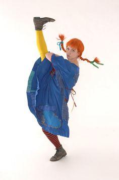 Katie Adducci as Pippi in Children's Theatre Company's 2012 production of Pippi Longstocking. Photo by Joan Buccina.