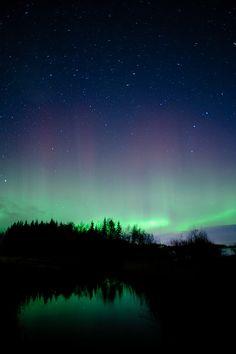 Northen lights above creek 2 by Jonas Wiklund, via Flickr