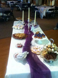 Bridal shower decorations for dessert shower :)