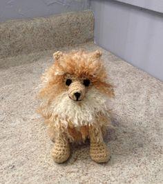 Pomeranian  Stuffed Animal  Amigurumi  Toy by meddywv on Etsy, $30.00