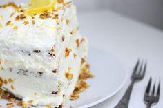 Ein Stück Low Carb Zitronen-Torte