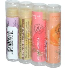 Out of Africa, Pure Shea Butter Lip Balm, 4 Pack, because shea butter does wonders on my lips.