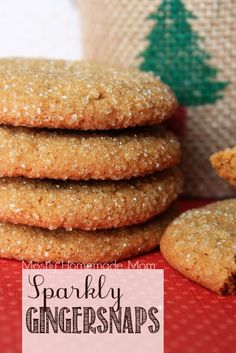 I could eat these Sparkly Gingersnaps year round!! These are SO good dipped in coffee!