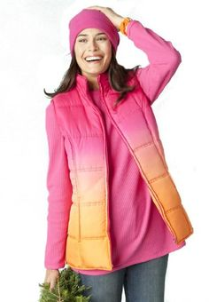 BESTSELLER! Woman Within Plus Size Vest with quilted texture in solids, plaid and ombre $20.99