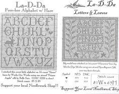 back stitch alphabet charts | Cross Stitch Letter Pattern Generator La-d-da freebies - alphabet