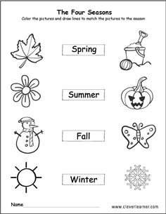 the 4 seasons coloring and activity for children roohi pinterest season colors weather. Black Bedroom Furniture Sets. Home Design Ideas