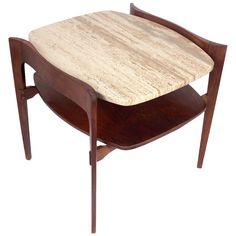 Sculptural Italian Modern Side Table By Bertha Schaefer