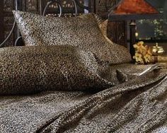 cheetah print satin sheets queen size | LUXURY LEOPARD Queen Size Satin/Silk Bed Sheet Set Animal Safari Print ...