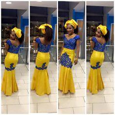Bazin et dentelle évasée robe par NewAfricanDesigns sur Etsy