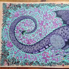 Take a peek at this great artwork on Johanna Basford's Colouring Gallery! Colouring, Coloring Books, Joanna Basford, Enchanted Forest Coloring Book, Johanna Basford Coloring Book, Color Combos, Color Inspiration, Tapestry, Gallery