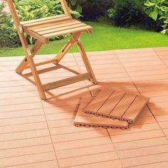 12er-Set Prima Garden Terrassenplatte in Bankirai-Optik - Jetzt reduziert bei Lesara